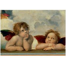 The Sistine Madonna Group Of Angels 500 Parça