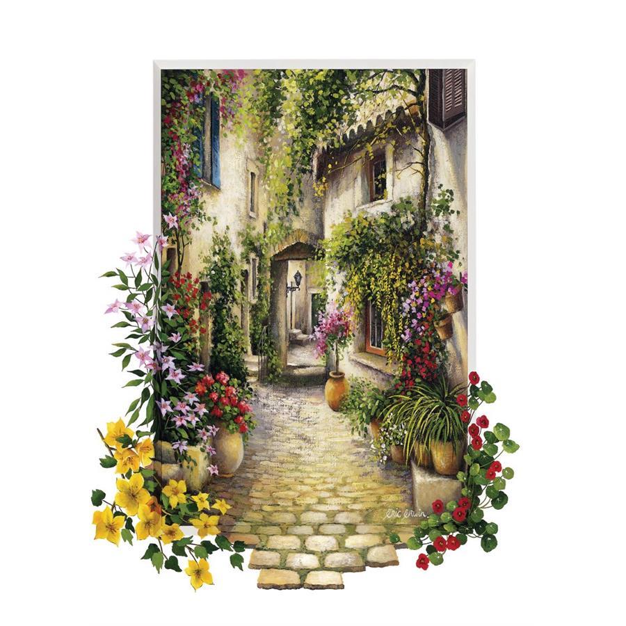 amazon Schönheit neuartiges Design Art Puzzle Çiçekli Ara Sokak 500 Parça