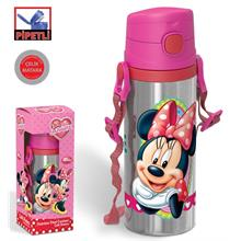 Minnie Mouse Pipetli Çelik Matara (600 ml)