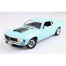 Motormax 1:18 1970 Ford Mustang Boss 429 (Mavi) Model Araba