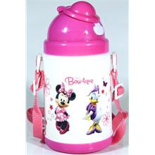 Disney Minnie Mouse Pipetli Kapaklı Matara (350 ml)
