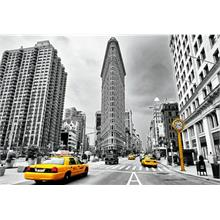 Educa 1000 Parça Puzzle - Flatiron, New York - Coloured Black & White