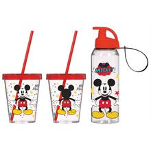 Herevin Mickey Mouse Pipetli Bardak ve 500 ml Matara