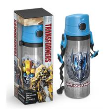 Transformers Pipetli Çelik Matara (600 ml)