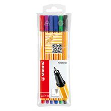 Stabilo Point 88 Fineliner Keçeli Renkli Kalem 0.4 mm 6 lı Paket
