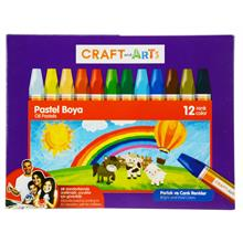 Craft and Arts Pastel Boya 12 Renkli - Karton Kutu - U1812