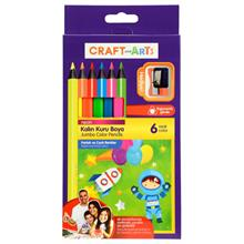 Craft and Arts 6 Renk Jumbo Neon Kuru Boya - CAKB-6N
