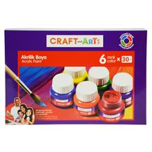 Craft and Arts 6x30 ml Akrilik Boya - U1560KK-6