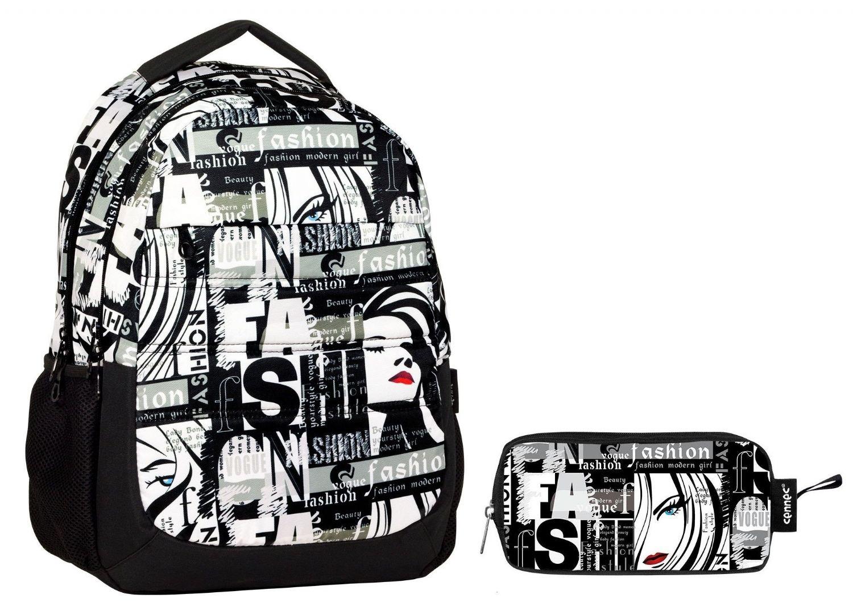 affd3ad123300 Cennec Fashion Baskılı Kız Çocuk Okul Çanta Seti (İlkoul ve Ortaokul)