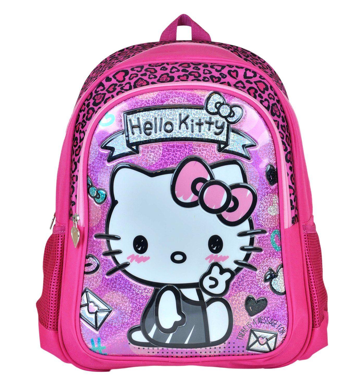 c1ee0043b2a4e Hello Kitty Kabartmalı Simli İlkokul Sırt Çantası - Kız Çocuk - Pembe