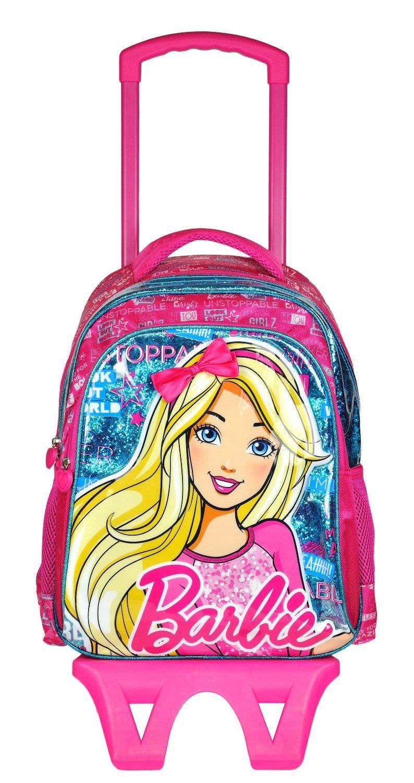 9385050d30d21 Barbie Lisanslı Çekçekli Sırt Çantası- 95263 - Kız Çocuk