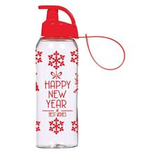 500 ml Askılı Desenli Matara - Happy New Year