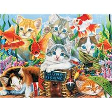 Masterpieces 750 Parça Puzzle Fishing Kittens