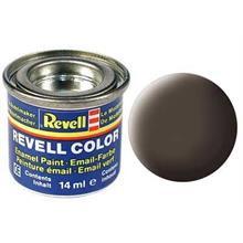 Revell Leather Brown Mat 14 ml Maket Boyası