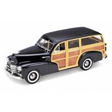 Welly 1:18 Ölçek 1948 Model Chevrolet Fleetmaster Diecast Araba Siyah
