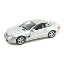 Welly 1:18 Diecast Model Araba Mercedes-Benz SL500 Top Up Gümüş Renk