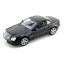 Welly 1:18 Ölçek Model Araba Mercedes-Benz SL500 Top Up Siyah