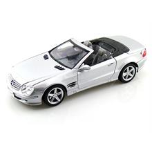 Welly 1:18 Model Araba Mercedes-Benz SL500 Top Down Gümüş Rengi