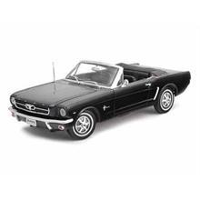 Welly 1:18 Ölçek Diecast Model Araba 1964 1/2 Ford Mustang Convertible Siyah