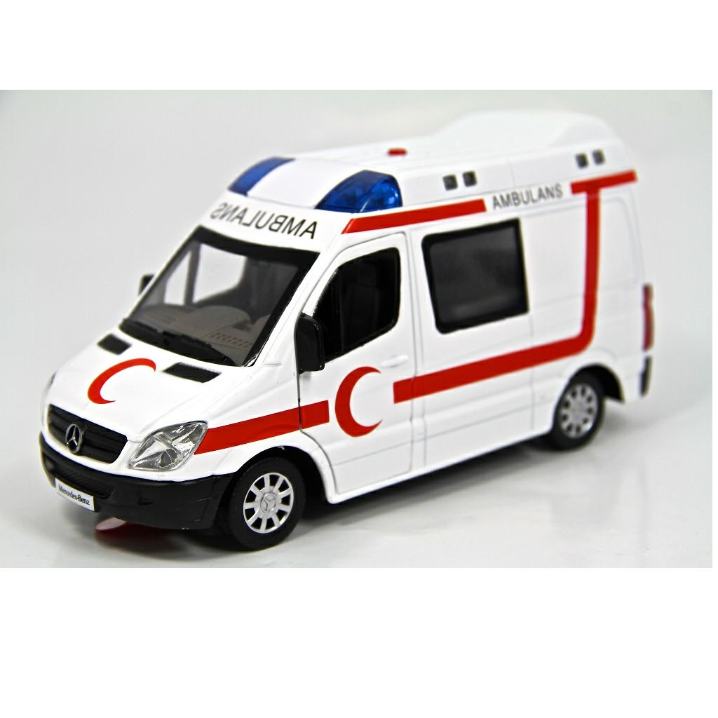 1 32 Isikli Sesli Metal Ambulans Cek Birak Ozellikli