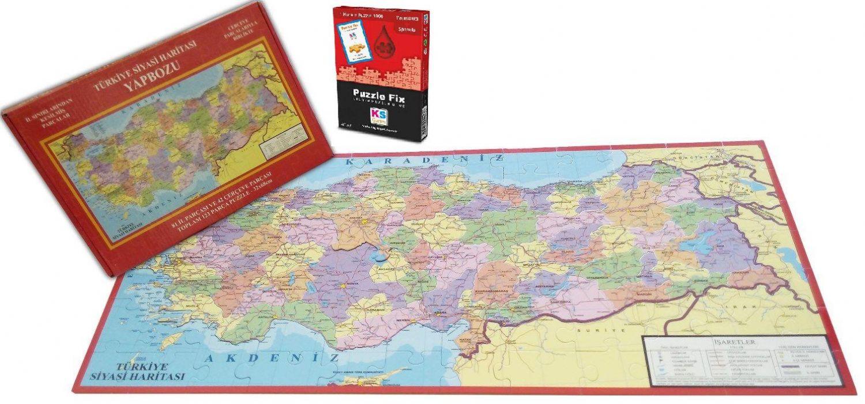 Turkiye Haritasi Puzzle Ks Games Yapistirici 81 Il Her Il