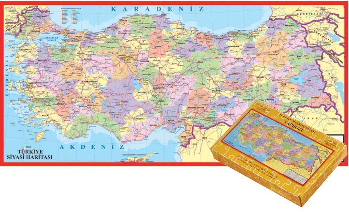 Keskin Color Turkiye Haritasi Yapboz 81 Il 123 Parca