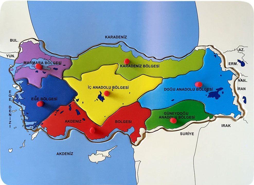Bubu Ahsap Turkiye Haritasi Bultak Puzzle Bolgeler